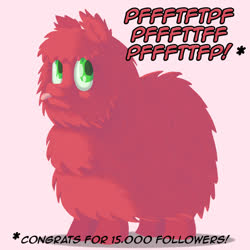 Size: 800x800 | Tagged: safe, artist:crispokefan, oc, oc:fluffle puff, ask pun, ask, fluffy, palette swap, raspberry, recolor, solo, tongue out