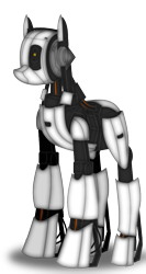 Size: 551x1038 | Tagged: safe, artist:99999999000, pony, robot, robot pony, glados, ponified, portal (valve), portal 2, simple background, solo, transparent background, video game