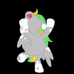Size: 1800x1800 | Tagged: safe, artist:ponkus, oc, oc:odd inks, pegasus, pony, bipedal, dancing, female, frog (hoof), mare, simple background, snoopy dance, socks (coat marking), solo, transparent background, underhoof