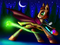 Size: 1600x1200 | Tagged: safe, artist:asimos, oc, oc only, alchemy, amulet, bandage, cape, clothes, jewelry, potion, solo