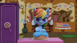 Size: 1920x1080 | Tagged: safe, rainbow dash, cake off, my little pony: pony life, cake, food, massage, stop motion