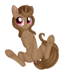 Size: 1024x1226 | Tagged: safe, artist:dusthiel, oc, oc only, oc:buttercup shake, pony, unicorn, covering, covering crotch, female, mare, simple background, solo, transparent background, underhoof
