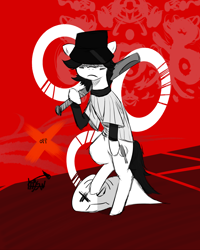 Size: 2800x3500 | Tagged: safe, artist:mjsw, ghost, pony, undead, off, ponified, sketch, solo, the batter
