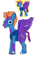 Size: 1080x2160   Tagged: safe, oc, oc only, alicorn, pony, alicorn oc, clothes, glasses, grin, horn, male, shoes, simple background, smiling, solo, spread wings, stallion, wat, watch, white background, wings