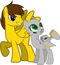 Size: 2699x2914 | Tagged: safe, artist:ponkus, artist:ponynamedmixtape, oc, oc only, oc:blu skies, oc:sierra summit, original species, pegasus, plane pony, pony, 2020 community collab, derpibooru community collaboration, a-10 thunderbolt ii, base used, female, plane, simple background, transparent background