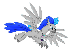 Size: 1666x1179 | Tagged: safe, artist:syncedsart, edit, editor:ganymedeskies, oc, oc only, oc:messier, hippogriff, 2020 community collab, derpibooru community collaboration, flying, hippogriff oc, simple background, solo, transparent background