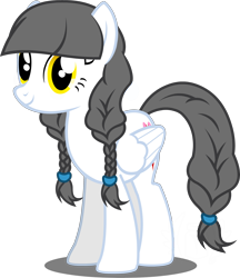 Size: 2100x2425 | Tagged: safe, artist:flash equestria photography, oc, oc only, oc:caring hearts, pegasus, pony, 2020 community collab, derpibooru community collaboration, braid, simple background, solo, transparent background, vector, wings