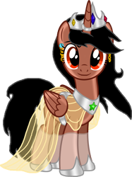 Size: 2992x4008 | Tagged: safe, artist:crisostomo-ibarra, oc, oc only, oc:princess fantasy star, alicorn, pony, 2020 community collab, derpibooru community collaboration, alicorn oc, crown, ear piercing, earring, female, horn, horn ring, jewelry, looking at you, mare, piercing, regalia, simple background, solo, transparent background