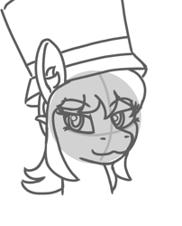 Size: 818x1010 | Tagged: safe, artist:anthroponiessfm, pony, a hat in time, explicit source, hat, hat kid, ponified, sketch, smug