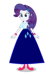 Size: 638x914 | Tagged: safe, alternate version, artist:cartoonmasterv3, rarity, equestria girls, clothes, long skirt, simple background, skirt, solo, transparent background, vector