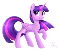 Size: 1900x1600 | Tagged: safe, artist:siggie740, twilight sparkle, alicorn, pony, cute, female, mare, simple background, solo, twiabetes, twilight sparkle (alicorn), white background