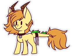 Size: 1024x780 | Tagged: safe, artist:jetjetj, oc, oc only, oc:polonium, object pony, original species, pony, collar, cute, element pony, freckles, horn, leonine tail, male, ocbetes, ponified, radioactive, simple background, solo, stallion, transparent background