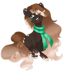 Size: 2354x2614   Tagged: safe, artist:shady-bush, oc, earth pony, pony, clothes, female, mare, scarf, simple background, solo, transparent background
