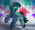 Size: 3233x2797 | Tagged: safe, artist:airiniblock, oc, oc only, oc:target strike, pegasus, pony, clothes, cloven hooves, commission, gas mask, graffiti, high res, hoodie, male, mask, raised hoof, solo