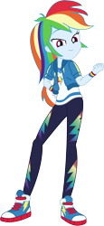 Size: 2954x6421   Tagged: safe, artist:marcorois, rainbow dash, equestria girls, street chic, spoiler:eqg series (season 2), absurd resolution, clothes, converse, female, pants, shoes, simple background, solo, transparent background, wristband
