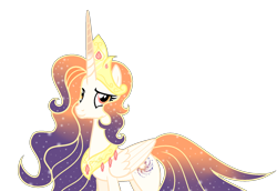 Size: 1024x706 | Tagged: safe, artist:starglaxy, oc, oc:elysia, oc:queen galaxia, alicorn, pony, 's parents, celestia and luna's mother, female, mare, simple background, solo, transparent background