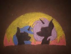 Size: 1024x768   Tagged: safe, artist:gahoon, artist:themisto97, alicorn, pony, chalk, chalk drawing, czequestria, czequestria 2019, photo, starved for light, street art, traditional art