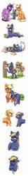 Size: 750x4709 | Tagged: safe, artist:celestial-rainstorm, applejack, twilight sparkle, oc, oc:athena, oc:chrysanthemum, oc:juniper berry, alicorn, hybrid, pony, unicorn, blind, braille, female, filly, interspecies offspring, offspring, older, parent:big macintosh, parent:discord, parent:fluttershy, parent:sugar belle, parents:canon x oc, parents:discoshy, parents:sugarmac, twilight sparkle (alicorn)