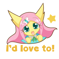 Size: 1000x1000 | Tagged: safe, artist:howxu, fluttershy, anthro, cute, emoji, female, looking at you, reaction image, shyabetes, simple background, solo, transparent background