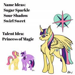 Size: 2048x2048   Tagged: safe, artist:rmv-art, sour sweet, twilight sparkle, oc, alicorn, pony, alicorn oc, magical lesbian spawn, offspring, parent:sour sweet, parent:twilight sparkle, parents:sourlight, twilight sparkle (alicorn)