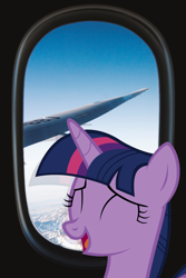 Size: 2472x3708 | Tagged: safe, artist:indonesiarailroadpht, twilight sparkle, alicorn, plane, sky, twilight sparkle (alicorn)