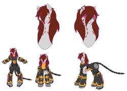 Size: 1600x1149   Tagged: safe, artist:kurogetsuouji, oc, oc:beast, oc:oath breaker, armor, male, power armor, powered exoskeleton, scar, stallion