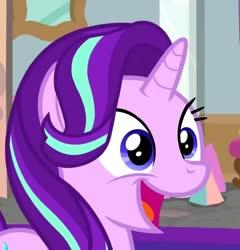 Size: 967x1006 | Tagged: safe, screencap, starlight glimmer, pony, unicorn, cropped, cute, female, glimmerbetes, happy, mare, open mouth, solo