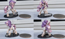Size: 1792x1080 | Tagged: safe, artist:flufflepimp, artist:v747, sweetie belle, pony, robot, 3d print, painting, sweetie bot, tiny, tiny ponies