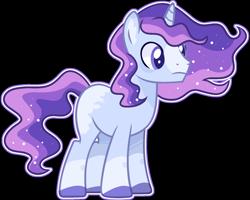 Size: 1764x1412 | Tagged: safe, artist:kurosawakuro, oc, pony, unicorn, base used, coat markings, colored hooves, ethereal mane, magical lesbian spawn, male, offspring, outline, parent:moondancer, parent:princess luna, parents:lunadancer, simple background, solo, stallion, starry mane, transparent background