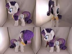 Size: 1597x1199 | Tagged: safe, artist:little-broy-peep, rarity, pony, element of generosity, irl, photo, plushie, solo
