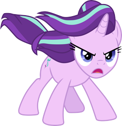 Size: 3000x3090 | Tagged: safe, artist:cloudyglow, artist:illumnious, starlight glimmer, pony, unicorn, the ending of the end, .ai available, cutie mark, female, high res, mare, open mouth, simple background, solo, transparent background, vector