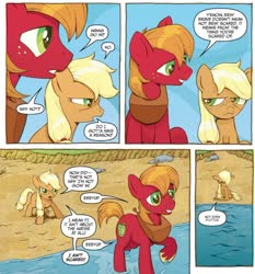 Size: 734x789   Tagged: safe, artist:caseycoller, idw, applejack, big macintosh, earth pony, pony, spoiler:comic, spoiler:comic85, colt, comic, female, filly, foal, male, official comic, speech bubble, younger