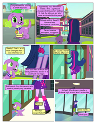 Size: 612x792 | Tagged: safe, artist:greatdinn, artist:newbiespud, edit, edited screencap, screencap, spike, dog, pony, comic:friendship is dragons, equestria girls, equestria girls (movie), clothes, collar, comic, cutie mark on clothes, dialogue, screencap comic, spike the dog, spiked collar