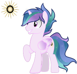 Size: 4403x4210 | Tagged: safe, artist:lilyroseoffantasy, oc, oc:flashlight, alicorn, pony, alicorn oc, magical lesbian spawn, male, offspring, parent:princess celestia, parent:twilight sparkle, parents:twilestia, simple background, solo, stallion, transparent background
