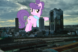 Size: 2100x1400 | Tagged: safe, artist:jeatz-axl, suri polomare, pony, city, female, giant pony, giantess, highrise ponies, irl, japan, macro, mare, mega giant, osaka, photo, ponies in real life