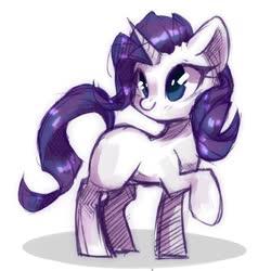 Size: 1080x1080 | Tagged: safe, artist:frgtmenot_mind, rarity, pony, unicorn, cute, female, mare, missing cutie mark, raribetes, simple background, solo, white background