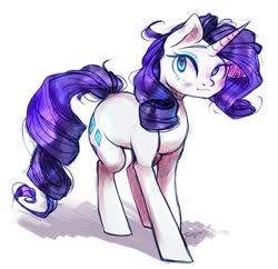 Size: 1115x1080 | Tagged: safe, artist:frgtmenot_mind, rarity, pony, unicorn, cute, female, mare, raribetes, simple background, solo, white background