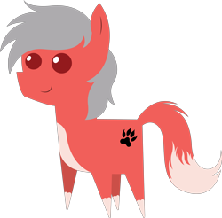 Size: 5914x5825 | Tagged: safe, artist:cosmiceclipsed, oc, oc only, oc:nightwolf, pony, cutie mark, fox tail, paw prints, pointy ponies, simple background, transparent background