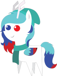 Size: 4966x6592 | Tagged: safe, artist:cosmiceclipsed, oc, oc only, oc:moonstone remedy, pony, antlers, clothes, hat, heterochromia, pointy ponies, reindeer antlers, scarf, simple background, transparent background