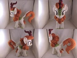 Size: 1597x1199 | Tagged: safe, artist:little-broy-peep, autumn blaze, kirin, irl, photo, plushie, solo