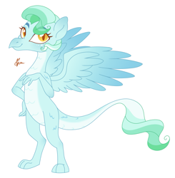 Size: 1703x1740 | Tagged: safe, artist:polymercorgi, oc, dracony, dragon, hybrid, pony, base used, interspecies offspring, magical lesbian spawn, offspring, parent:princess ember, parent:vapor trail, simple background, solo, white background