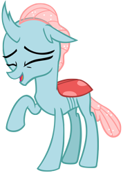Size: 3495x4912   Tagged: safe, artist:andoanimalia, ocellus, changedling, changeling, school daze, cute, diaocelles, eyes closed, female, giggling, open mouth, raised hoof, simple background, solo, transparent background, vector
