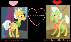 Size: 1024x602 | Tagged: safe, grand pear, granny smith, pony, female, male, meme, pearsmith, shipping, straight