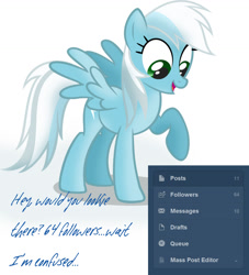Size: 1177x1295 | Tagged: safe, artist:ask-fleetfoot, fleetfoot, pony, alternate design, ask-fleetfoot, milestone, solo, tumblr