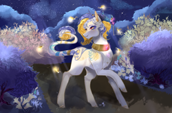 Size: 1653x1085   Tagged: safe, artist:bunnari, oc, earth pony, pony, female, flower, mare, solo
