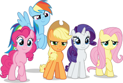 Size: 15618x10594   Tagged: safe, artist:thatusualguy06, derpibooru exclusive, applejack, fluttershy, pinkie pie, rainbow dash, rarity, earth pony, pegasus, pony, unicorn, mlp fim's tenth anniversary, the last problem, .svg available, absurd resolution, c:, cute, dashabetes, diapinkes, dreamworks face, female, group, happy birthday mlp:fim, jackabetes, mane five, mare, narrowed eyes, raribetes, shyabetes, simple background, smiling, transparent background, vector