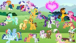 Size: 1280x720   Tagged: safe, artist:mlplary6, apple bloom, applejack, bon bon, button mash, caramel, cheese sandwich, discord, flash sentry, fluttershy, lyra heartstrings, pinkie pie, princess cadance, rainbow dash, rarity, rumble, scootaloo, shining armor, soarin', spike, starlight glimmer, sunburst, sweetie belle, sweetie drops, tender taps, twilight sparkle, alicorn, dragon, pony, big crown thingy, carajack, cheesepie, discoshy, element of magic, female, flashlight, jewelry, lesbian, lyrabon, male, regalia, rumbloo, shiningcadance, shipping, soarindash, sparity, starburst, straight, sweetiemash, tenderbloom, twilight sparkle (alicorn), winged spike, wings