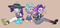 Size: 2616x1221   Tagged: safe, artist:bugssonicx, cozy glow, rarity, starlight glimmer, equestria girls, arm behind back, bondage, boots, bound and gagged, clothes, emanata, equestria girls-ified, evil grin, eyes closed, feet, female, femsub, gag, grin, hat, kidnapped, midriff, rarisub, rope, rope bondage, sandals, sarong, shoes, skirt, smiling, struggling, sublight glimmer, submissive, sun hat, swimsuit, tape, tape gag, tied up