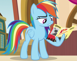 Size: 761x604 | Tagged: safe, screencap, rainbow dash, pegasus, pony, common ground, female, mare, wing hands, wings