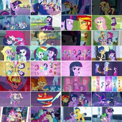 Size: 1080x1080 | Tagged: safe, artist:jericollage70, edit, edited screencap, screencap, applejack, flash sentry, fluttershy, pinkie pie, princess celestia, princess luna, rainbow dash, rarity, snails, snips, spike, sunset shimmer, twilight sparkle, alicorn, dog, earth pony, pegasus, pony, unicorn, equestria girls, equestria girls (movie), big crown thingy, crystal empire, element of magic, helping twilight win the crown, humane five, humane six, jewelry, magic mirror, mane seven, mane six, mirror, ponied up, principal celestia, regalia, spike the dog, sunset satan, this is our big night, time to come together, twilight sparkle (alicorn), twilight strong, vice principal luna, wondercolts uniform